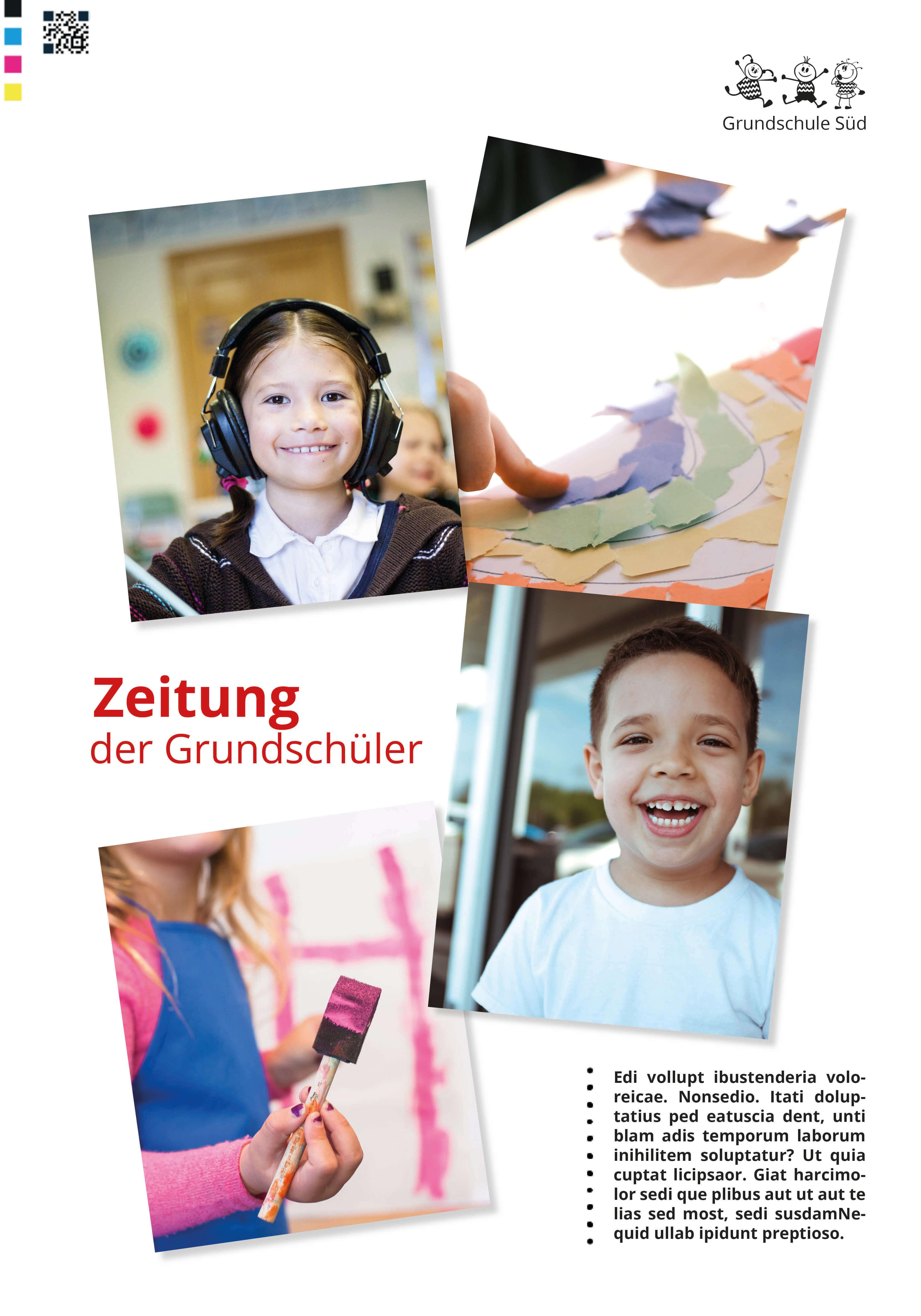 Titelseite für die Abschlusszeitung einer Grundschule