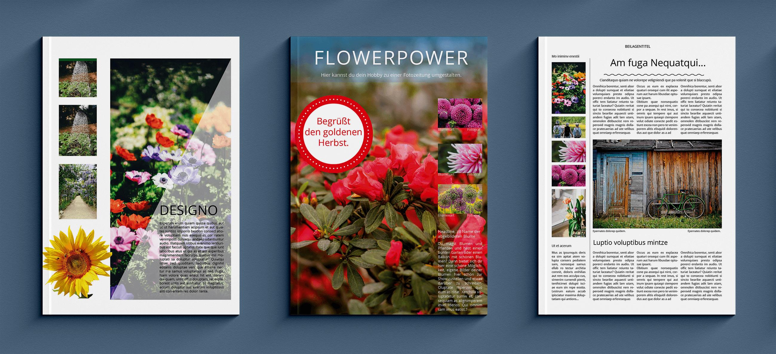 Eigenes Blume- oder Gartenmagazin mit Vorlagen selbst erstellen