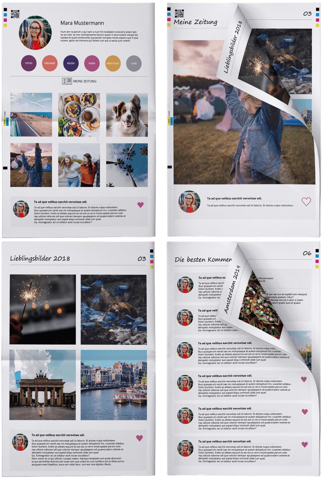 Stylishe Druckvorlagen für Facebook und Instagram Fotos