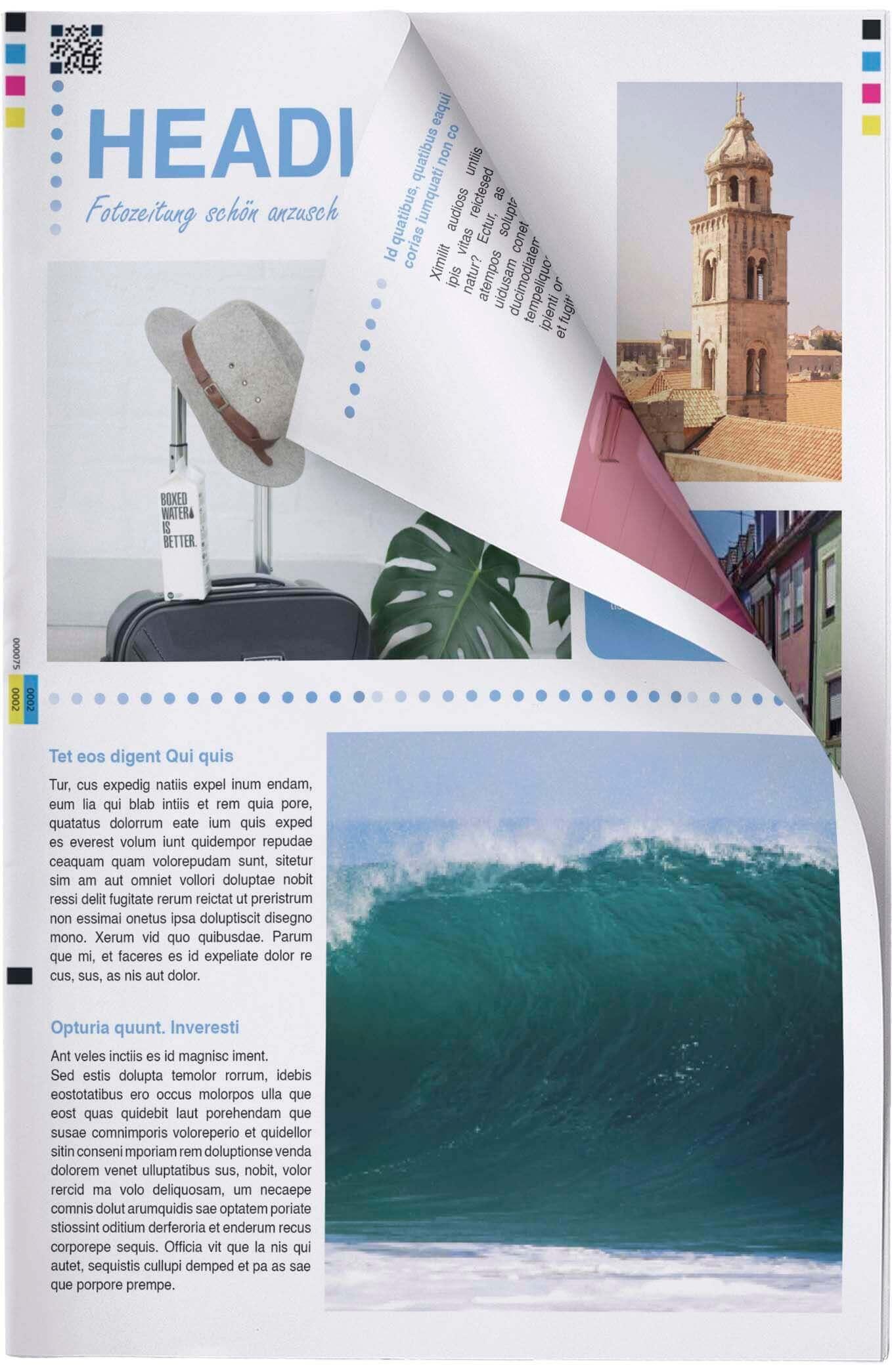Fotozeitung selbst erstellen und preiswert drucken