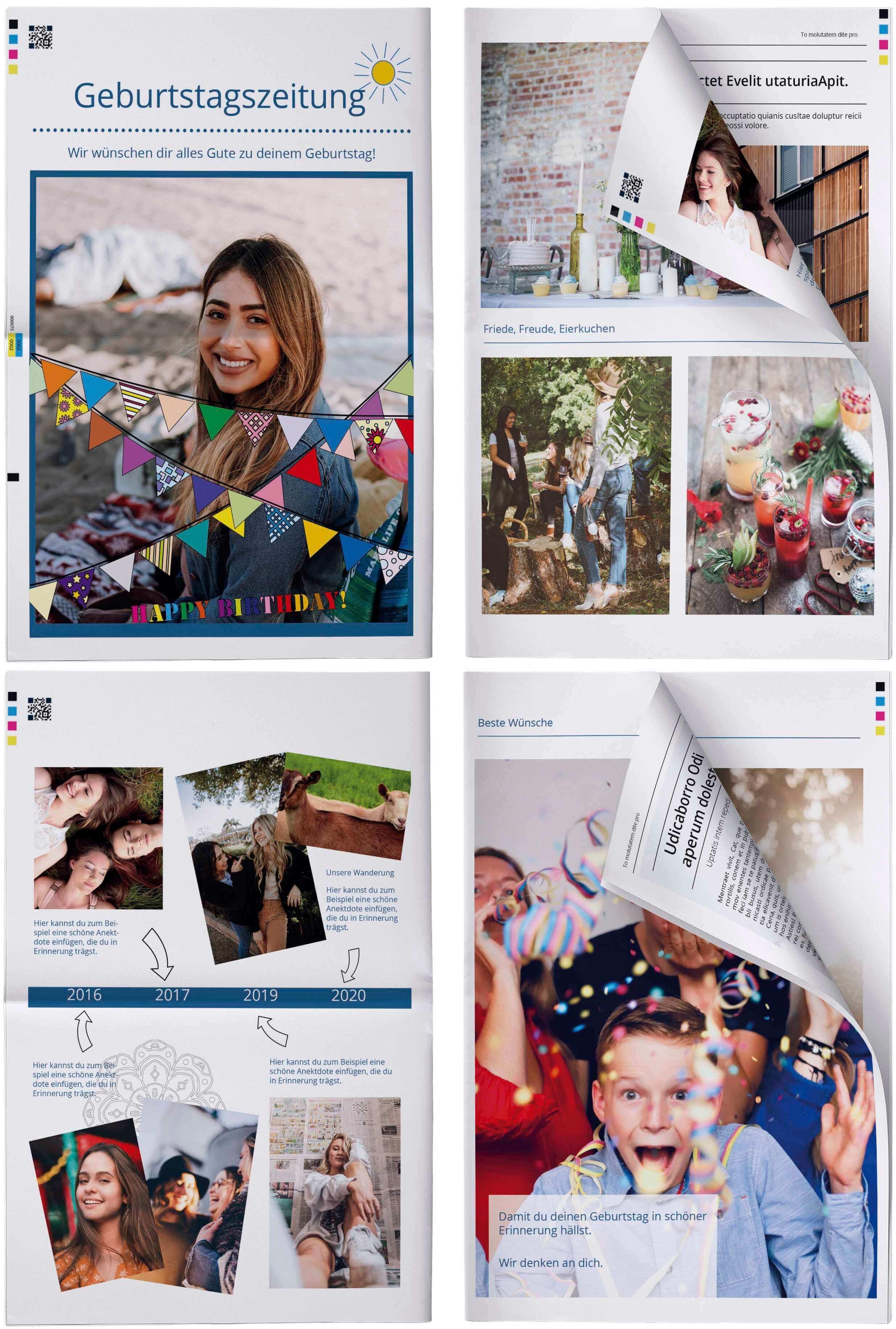 Geschenkzeitung für Geburtstag gestalten