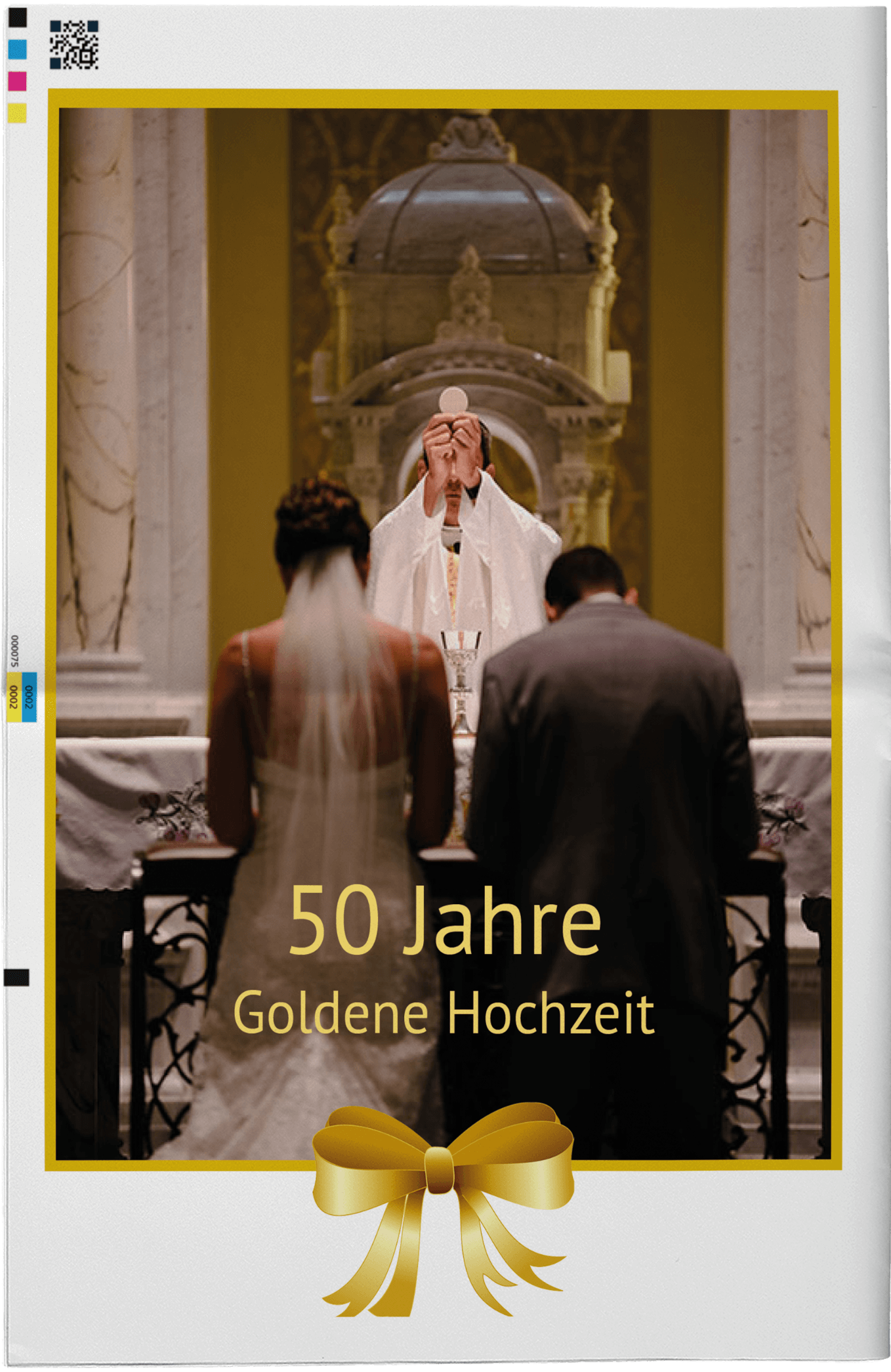 Beispiel für die Titelseite einer Hochzeitszeitung zur Goldenen Hochzeit