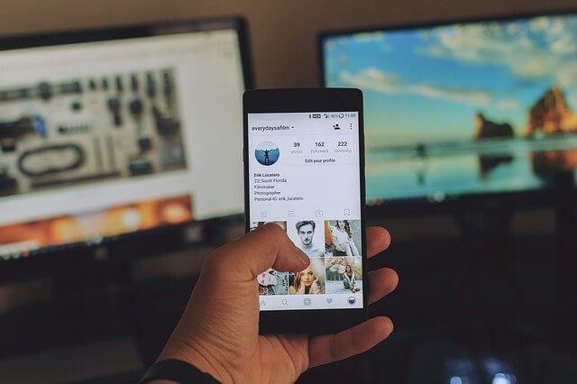 Instagram Profil mit Online-Programm verknüpfen