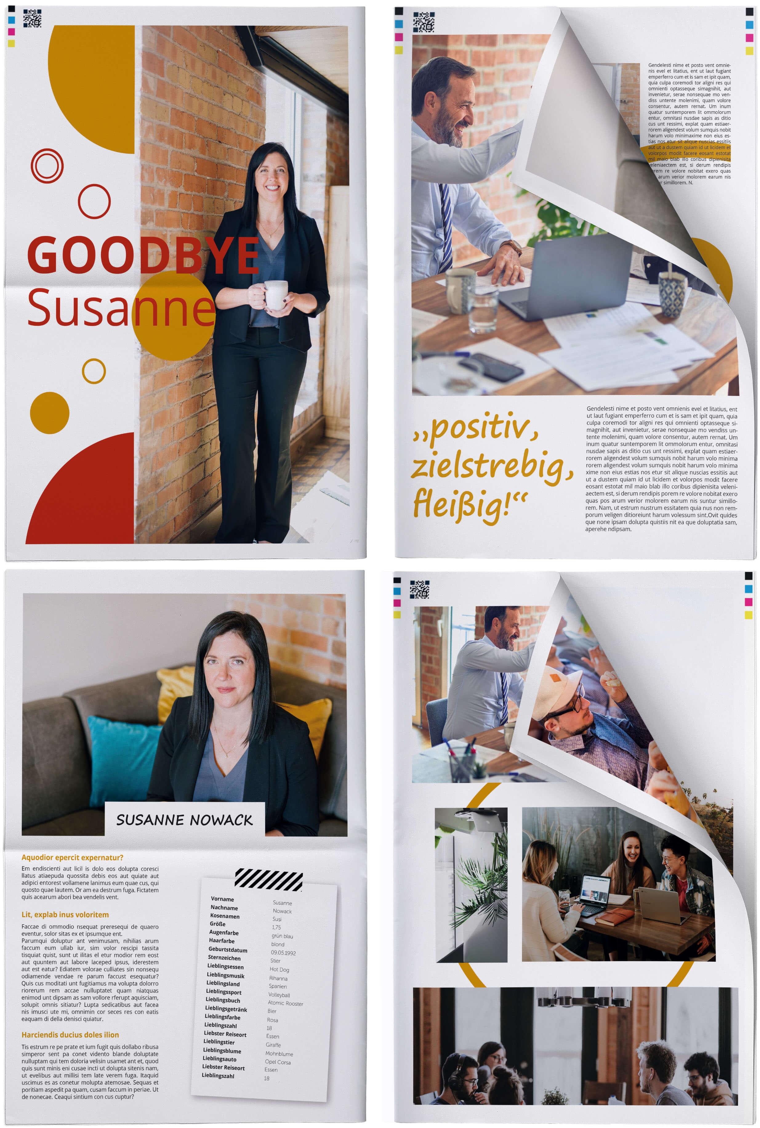 Beispiele und Ideen für eine kreative Abschiedszeitung