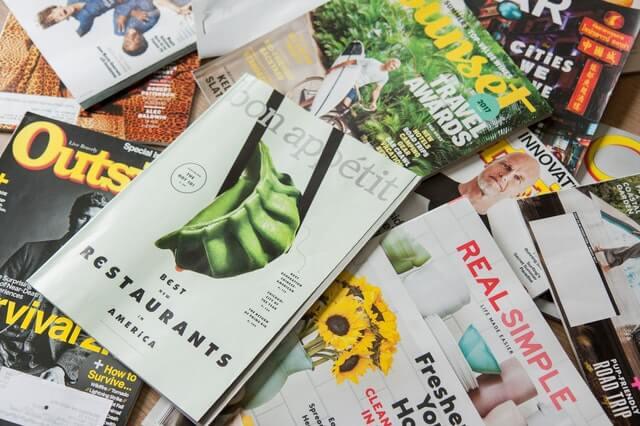 Individuelle Magazine mit unterschiedlichen Themen und Designs