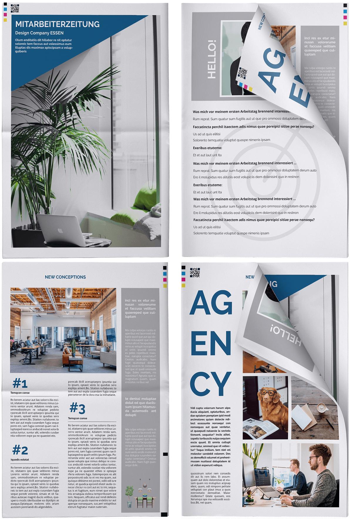 Ideen und Vorlagen für eine individuelle Mitarbeiterzeitung