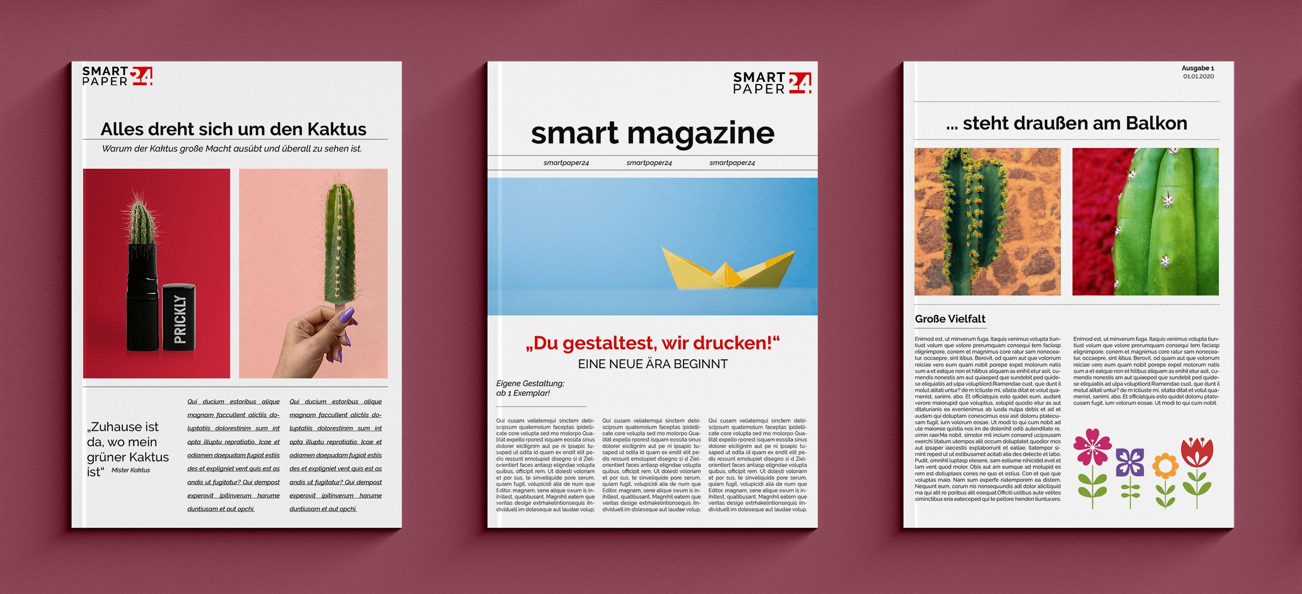 Modernes Magazin mit Vorlagen selbst erstellen