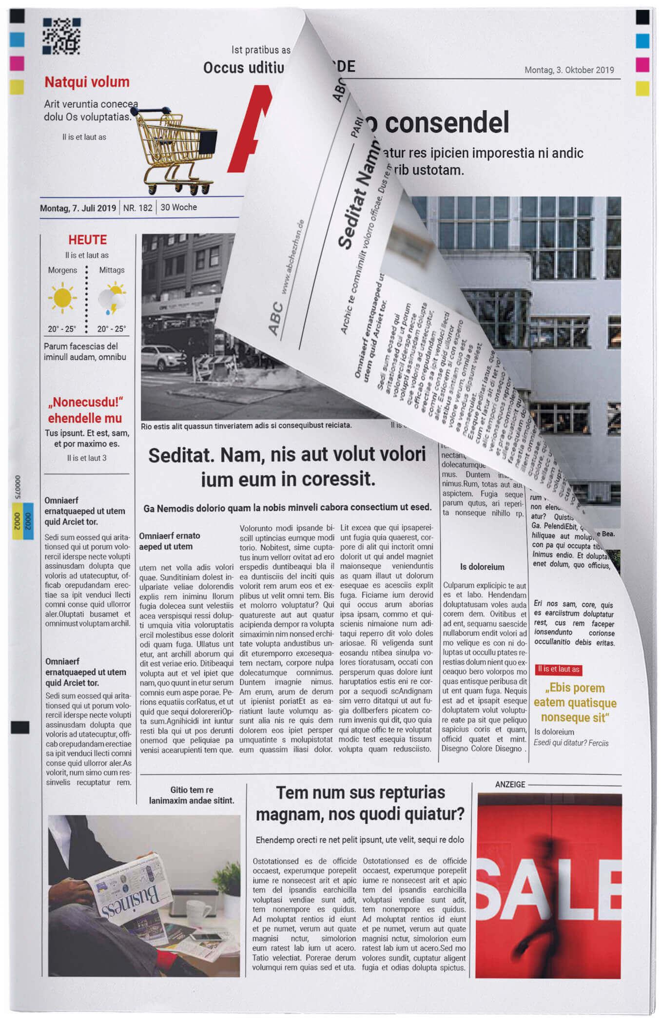 Fake Zeitung im Look einer klassischen Tageszeitung erstellen