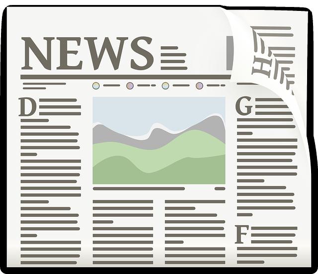 Illustration einer gedruckten Zeitung