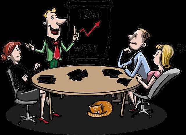 Mitarbeiter entwerfen Konzepte für Unternehmenserfolg
