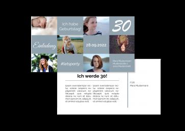 """Geburtstagskarte """"30 Jahre"""""""
