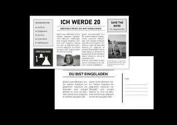"""Geburtstagskarte """"20 Jahre"""""""