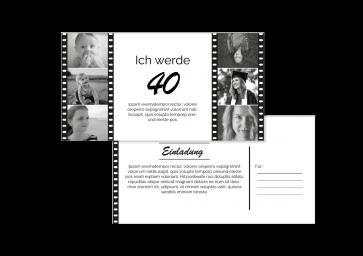 """Geburtstagskarte """"40 Jahre"""""""