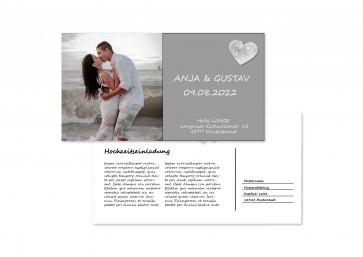 """Hochzeitskarte """"Schmetterlinge im Bauch"""""""
