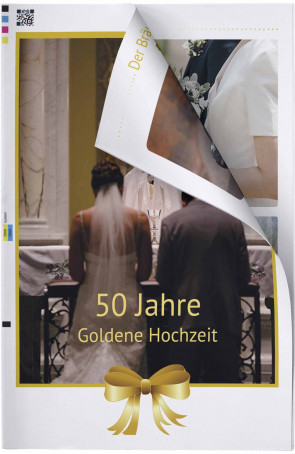 Hochzeitszeitung Gold