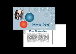 """Weihnachtskarte """"Christbaumkugel"""""""