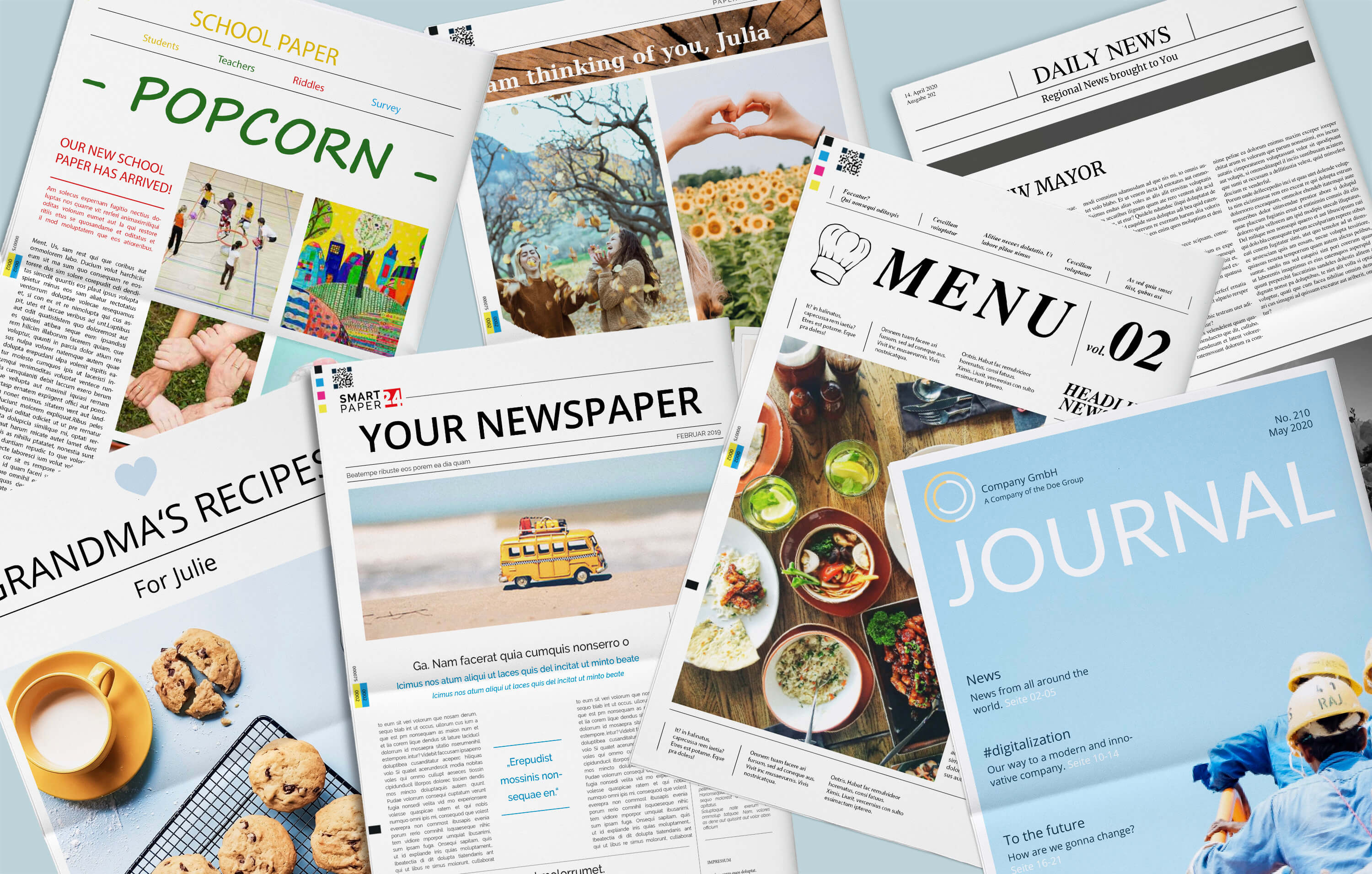 Create and print your own Newspaper