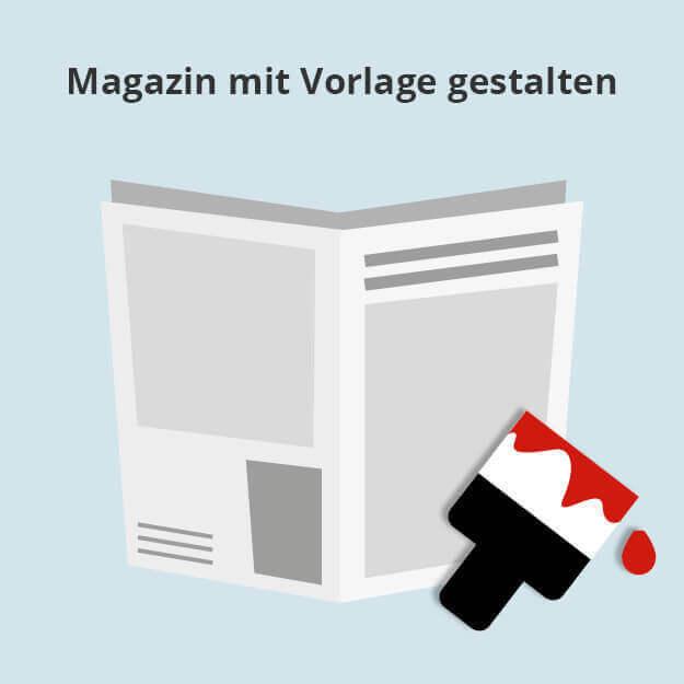 Magazin mit Vorlage gestalten