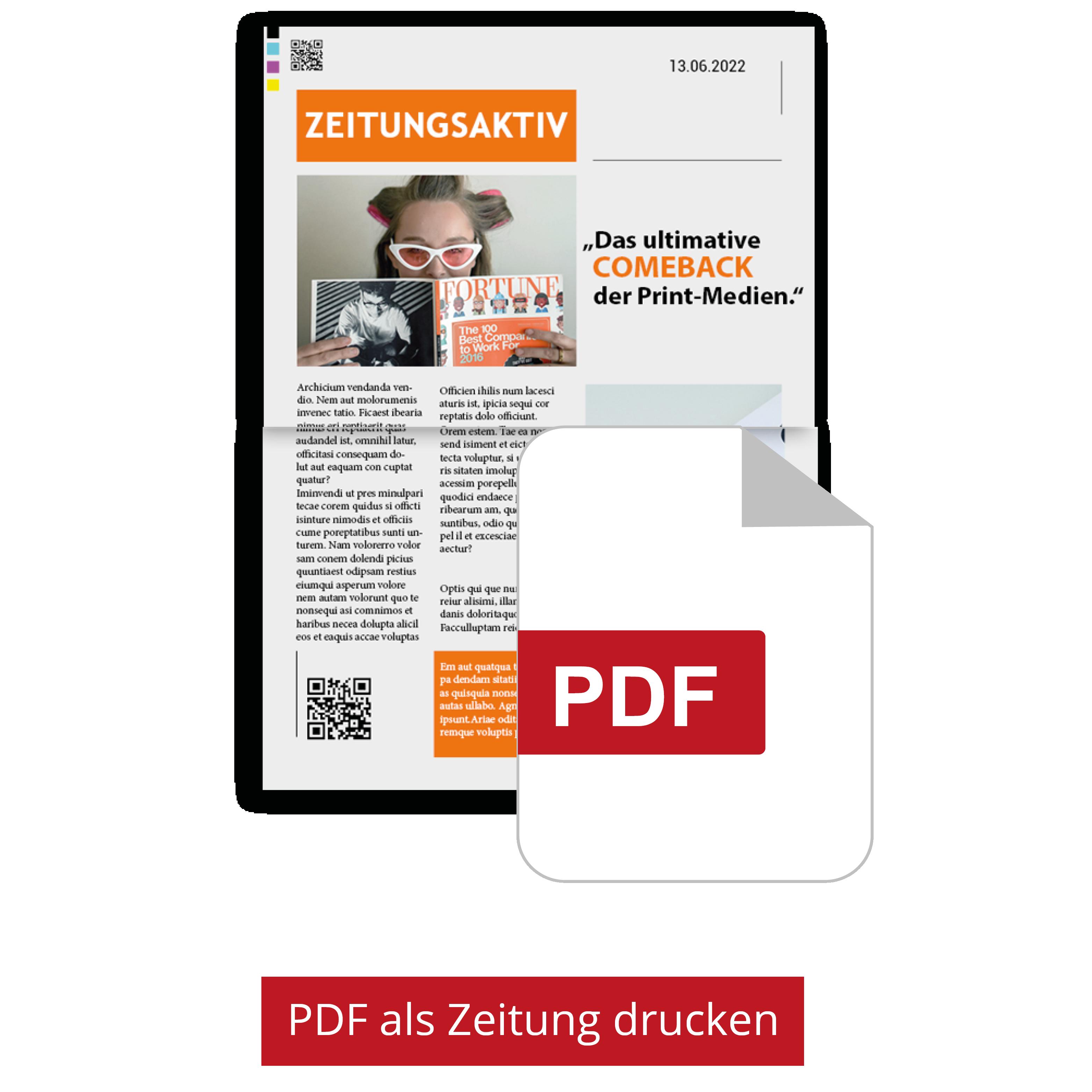 Eigene PDF als echte Zeitung drucken lassen