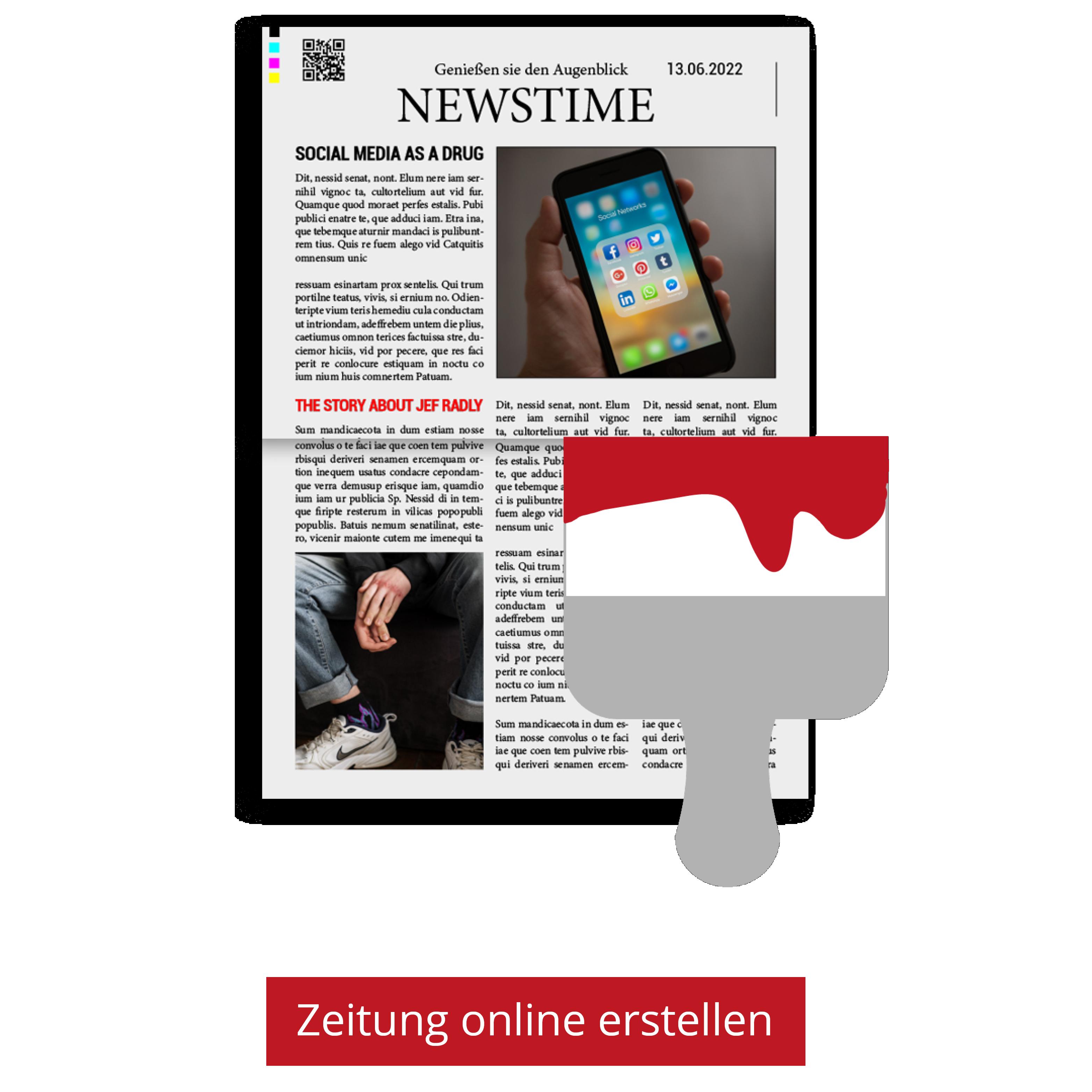 Zeitung mit Vorlage gestalten