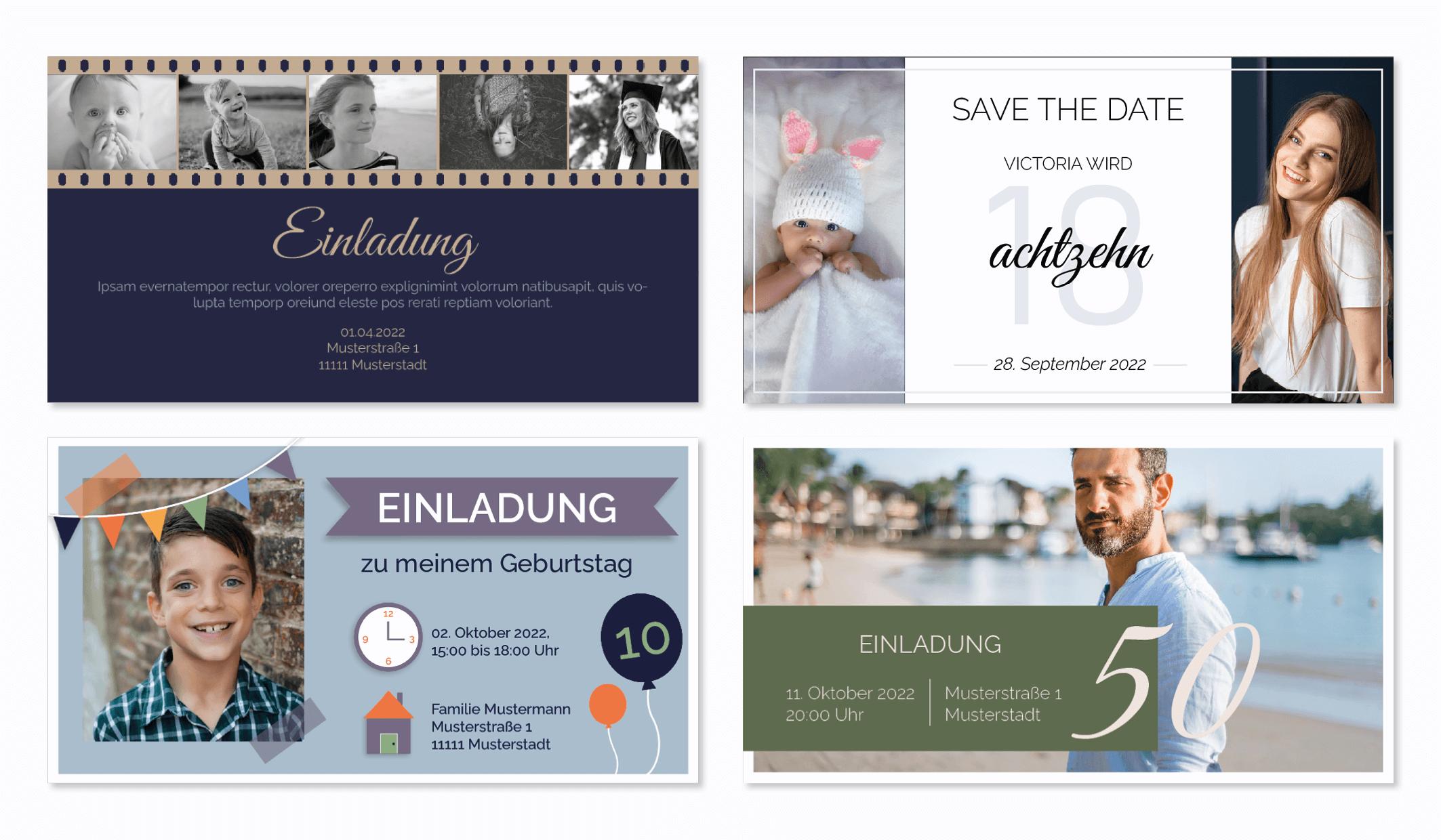 Geburtstagskarte mit Vorlage online gestalten und drucken