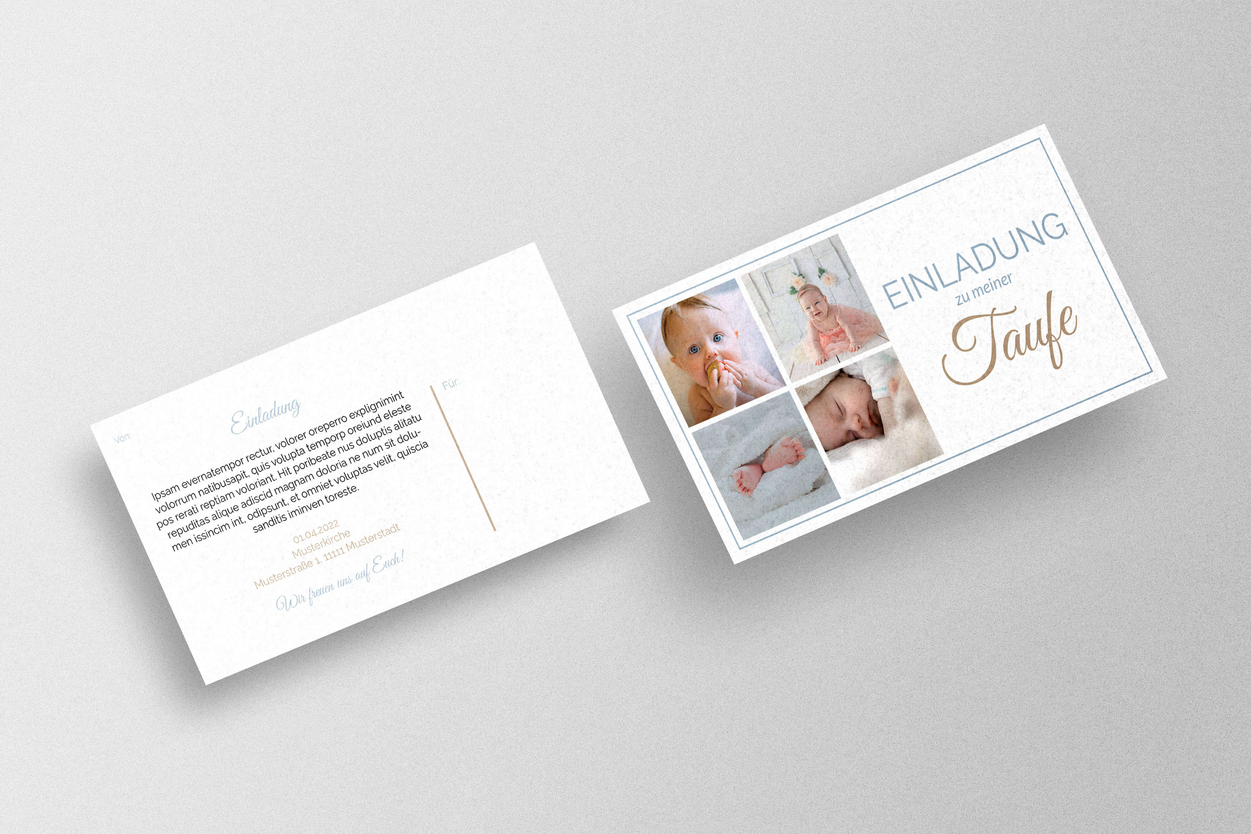 elegante Taufkarte erstellen und drucken lassen