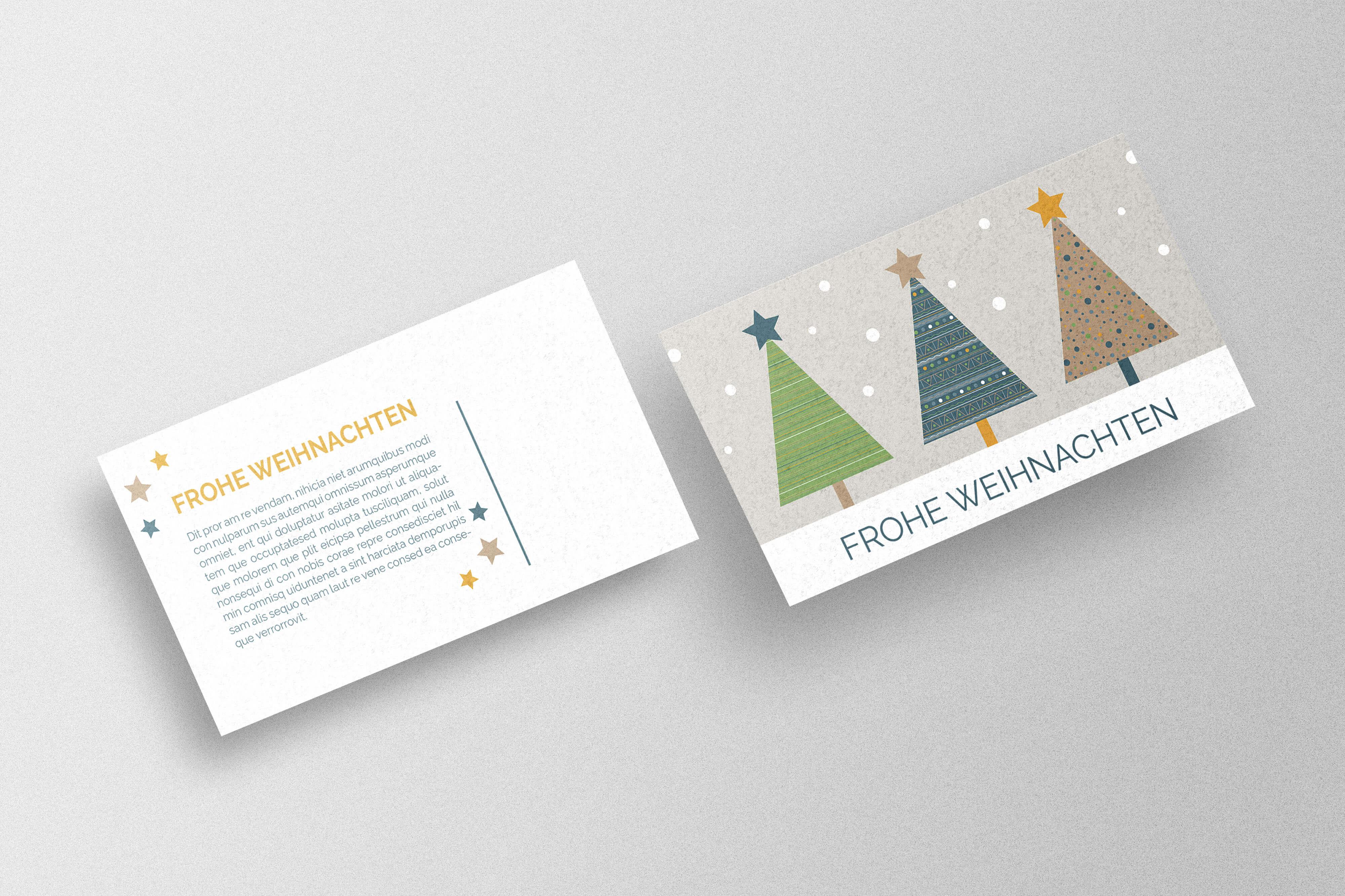 Weihnachtskarte selbst gestalten und drucken lassen
