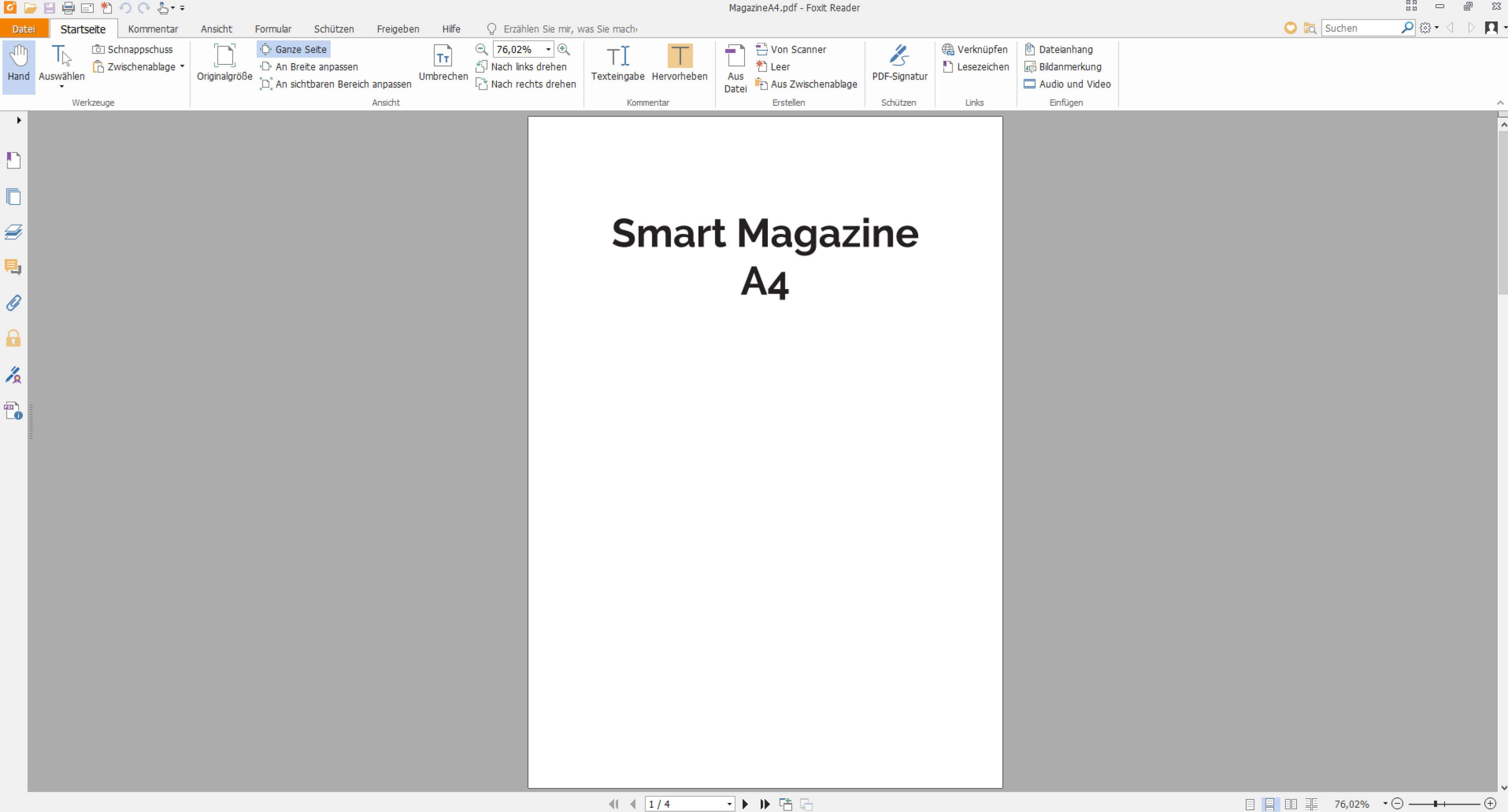 Magazin als PDF-Druckatei speichern