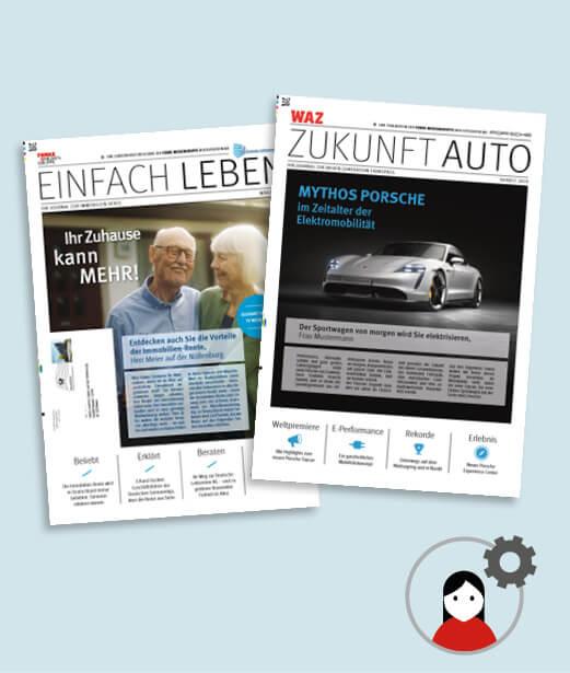 Werbezeitung als Print Mailing personalisieren und drucken