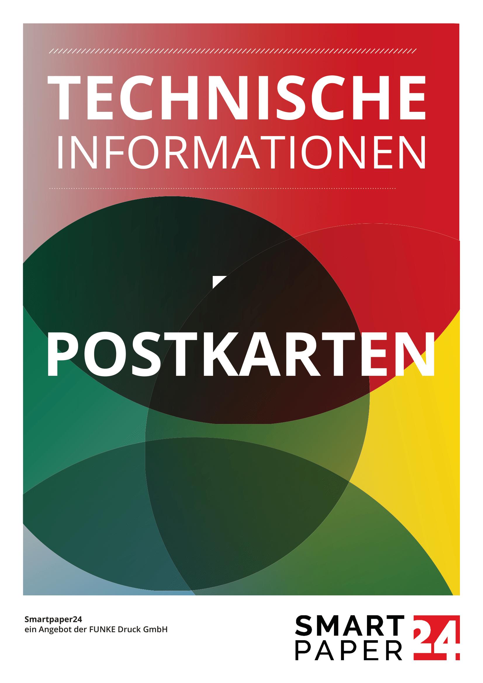 Postkarte mit eigenem Programm erstellen - Druckdatenblatt